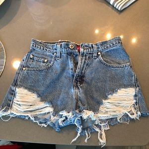 Levi's Silver Tab High Waisted Jean shorts sz 26